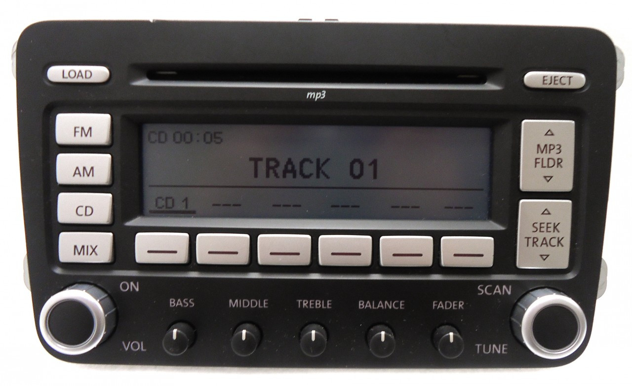 06 09 volkswagen golf gti radio 6 disc changer mp3 cd player. Black Bedroom Furniture Sets. Home Design Ideas