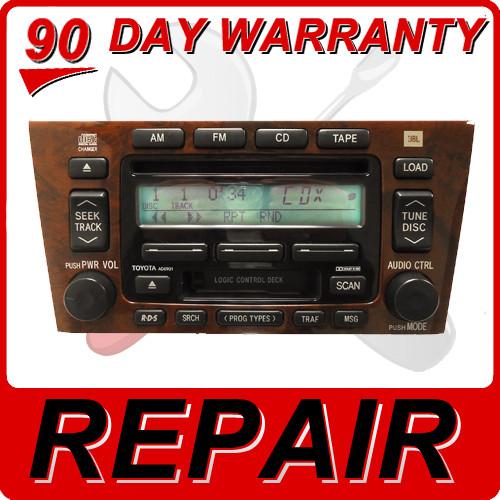 00 01 02 03 04 Repair Fix Toyota Avalon Jbl Radio 6 Disc Changer Cd Rhcd4car: 2001 Toyota Avalon Radio At Gmaili.net
