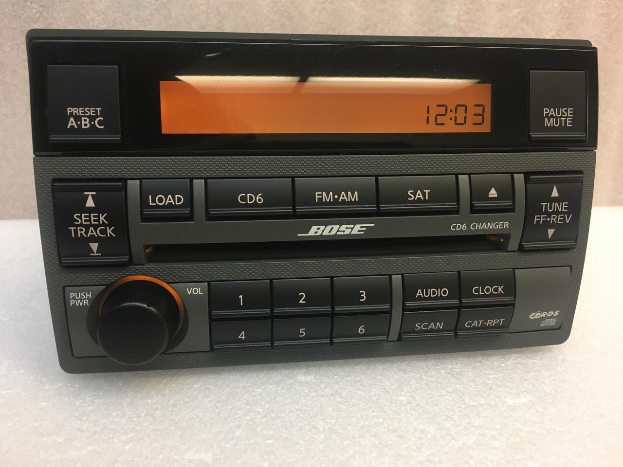 2005 2006 Nissan Altima Bose Radio Stereo Cd Player Radio