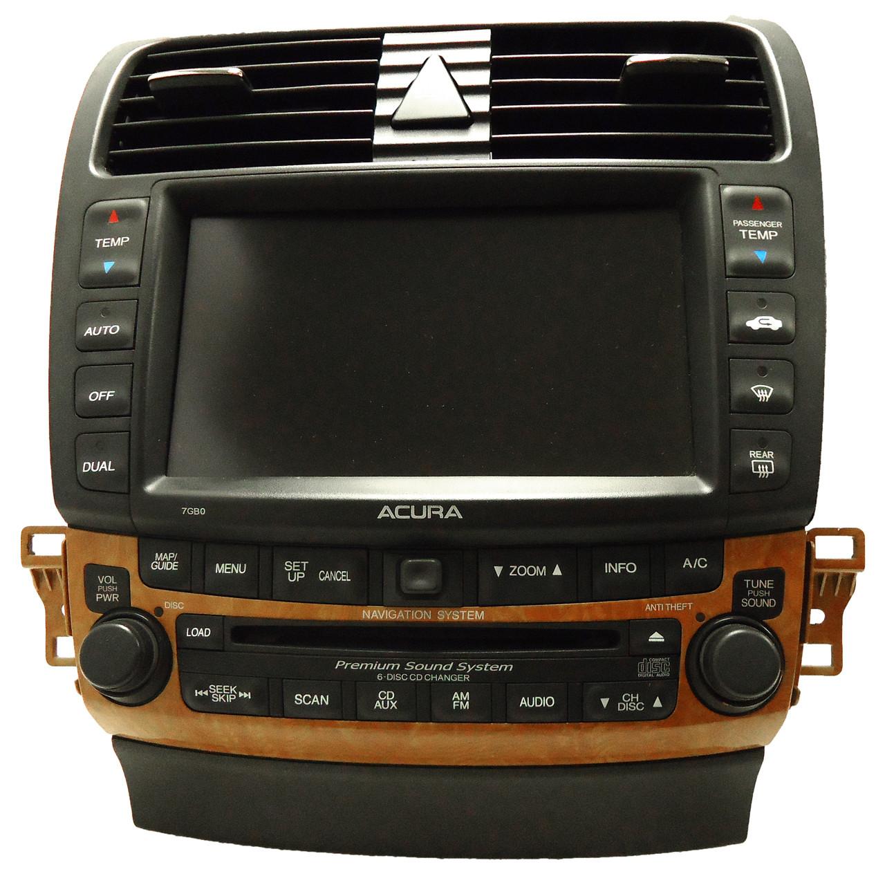 ACURA TSX Navigation GPS System Radio 6 Disc Changer CD