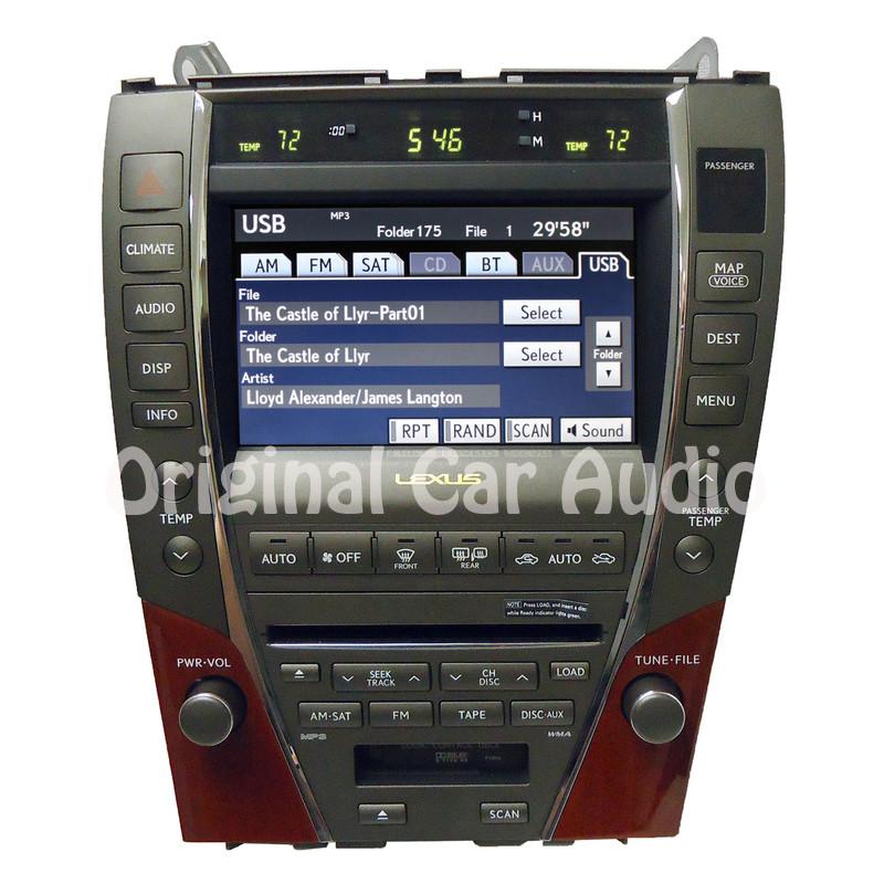 07 08 09 lexus es 350 es350 navigation gps screen display. Black Bedroom Furniture Sets. Home Design Ideas