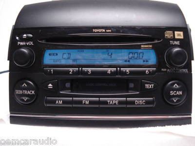 16840 2004 2010 Toyota Sienna Xle Radio Tape Cd Player