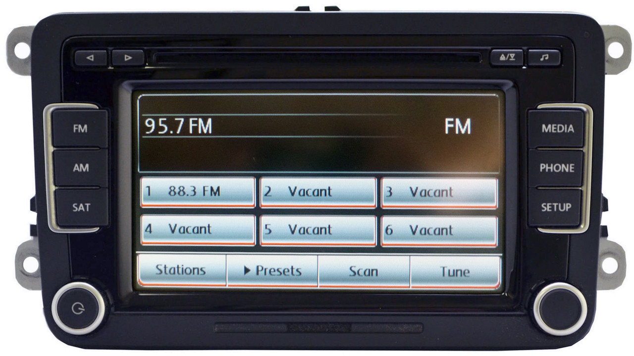 vw volkswagen rcd 510 touch screen am fm radio 6 disc. Black Bedroom Furniture Sets. Home Design Ideas