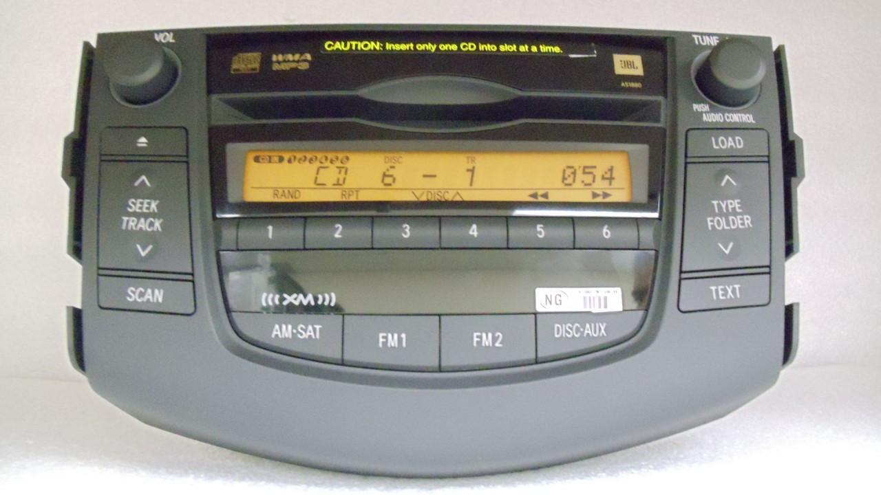 06 07 08 09 TOYOTA Rav4 JBL Radio Stereo 6 Disc Changer MP3