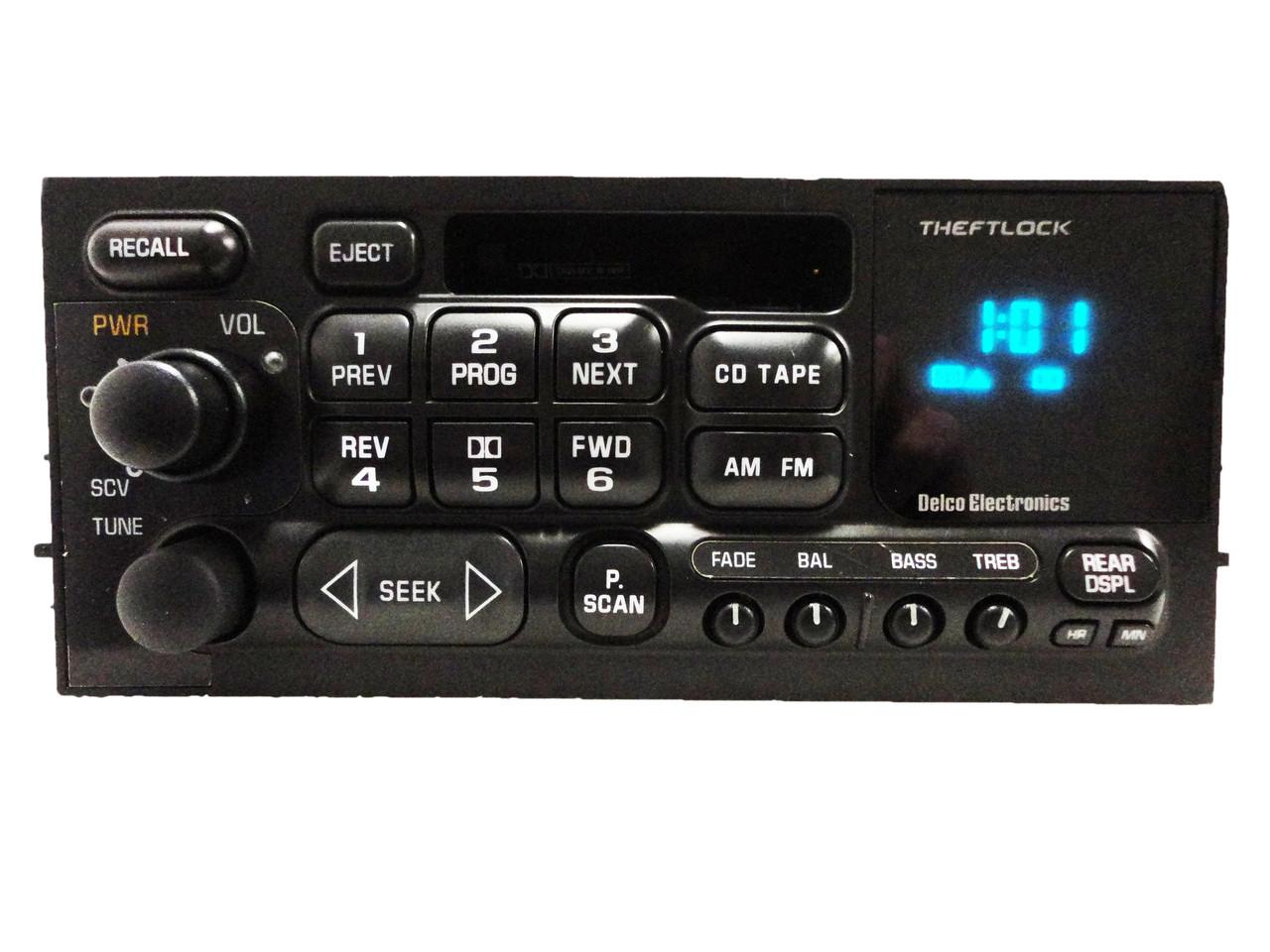 95 96 97 98 01 02 Chevy Cadillac GMC Radio Tape Player