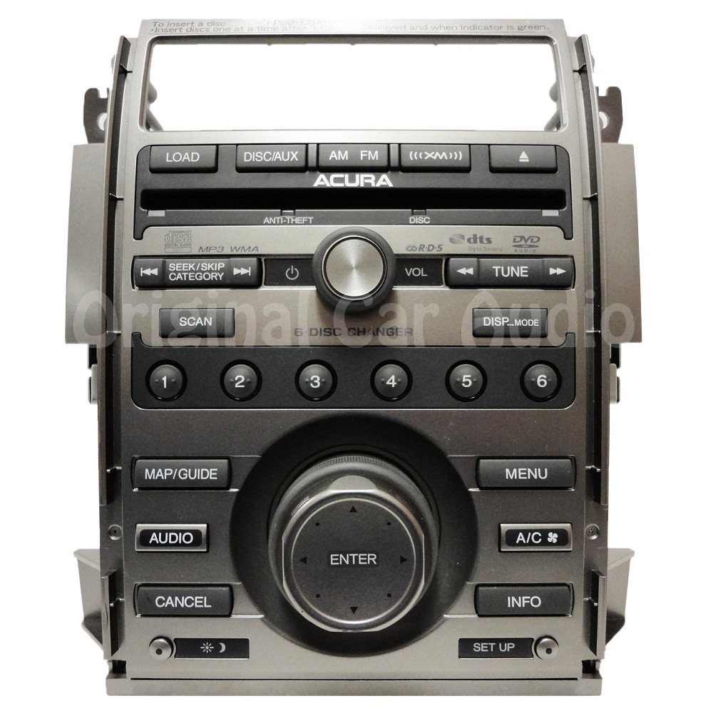 Acura RL XM Navigation Radio 6 Disc Changer MP3 CD DVD