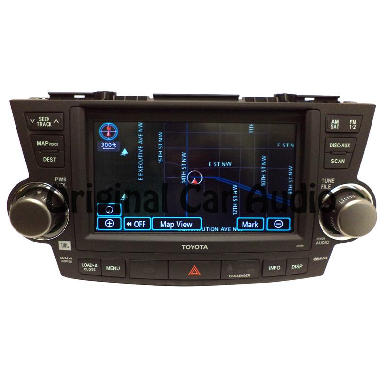 5 Myths About Replacing Your Toyota Highlander Warranty: NEW TOYOTA Highlander Navigation GPS LCD Display E7016 JBL