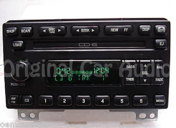 Ford 6 cd changer ebay 03 04 ford expedition radio 6 cd changer dvd player am fm stereo 2l1f sciox Gallery
