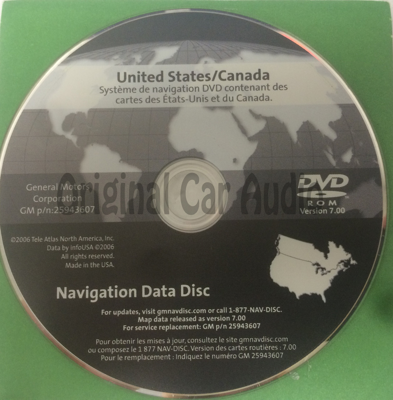 GM Satellite Navigation System GPS DVD Drive Disc 25943607 Version ...