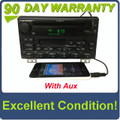 2001 - 2003 FORD EXPLORER Single CD AM FM Radio With Added Aux