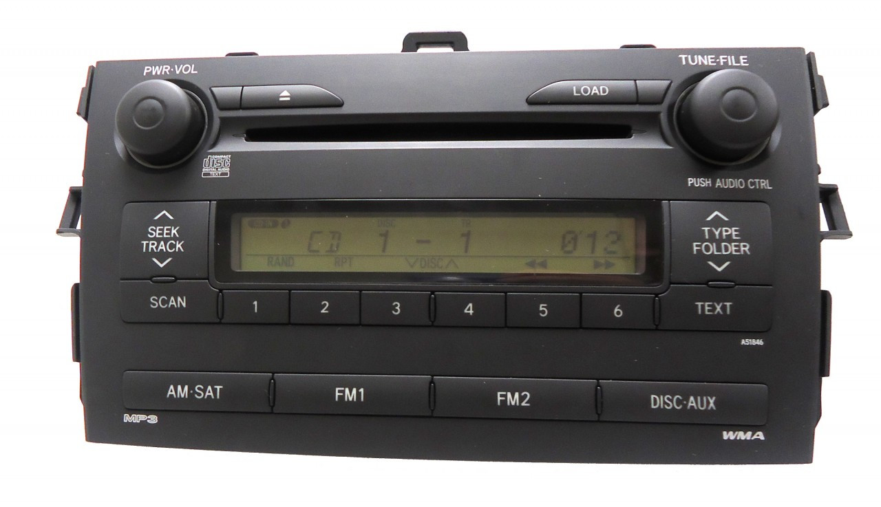 2009 2010 2011 toyota corolla 6 cd radio changer 86120 02770 a51846 oem aux ebay. Black Bedroom Furniture Sets. Home Design Ideas