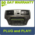 2003 2004 Lexus ES330 ES300 Radio Stereo Tape and 6 Disc Changer CD Player P6838