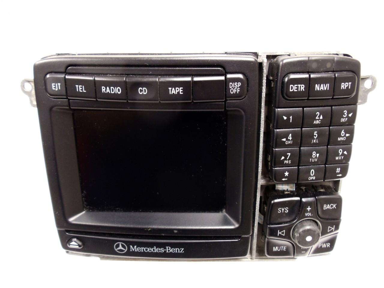 01 03 Mercedes S Class Cl Class Navigation Radio Cd Player
