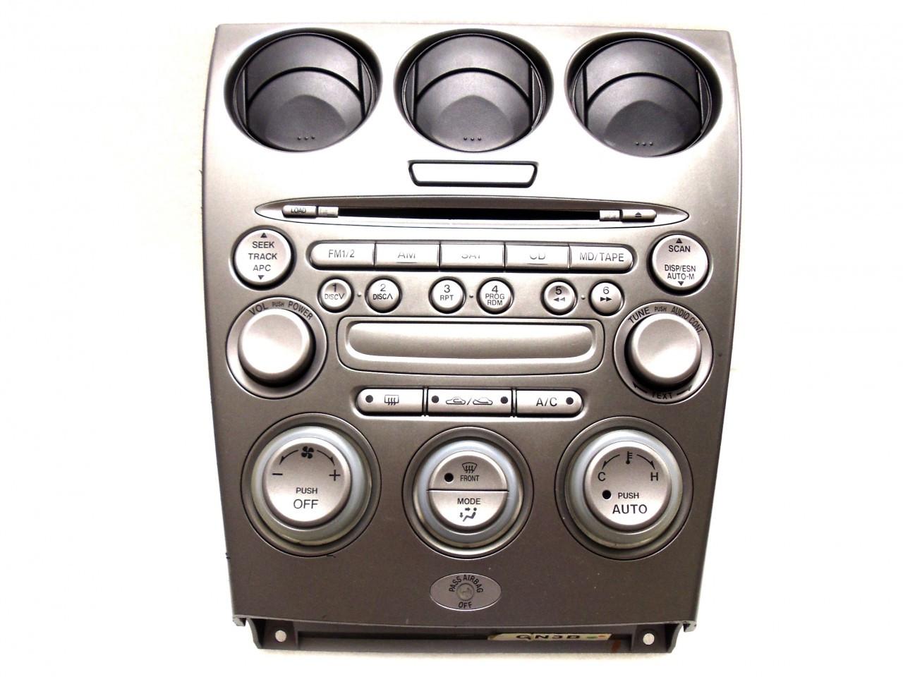 03 04 05 mazda 6 radio stereo 6 disc changer climate controls. Black Bedroom Furniture Sets. Home Design Ideas