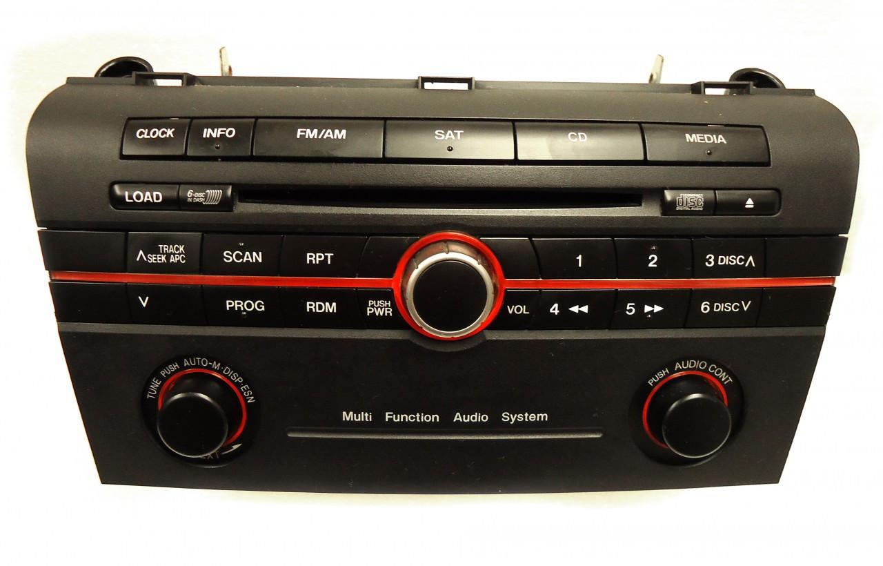 mazda 3 radio stereo 6 disc changer cd player black. Black Bedroom Furniture Sets. Home Design Ideas