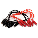 Red & Black Wires With Alligator Clips