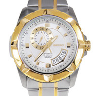 Seiko Automatic Two Tone Gold Bezel Watch SSA222K1 SSA222K SSA222