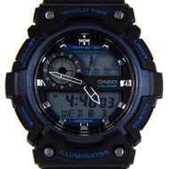 CASIO QUARTZ WORLD TIME WATCH AEQ-200W-2AV