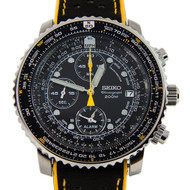 Seiko Chronograph Tachymeter Pilot Watch SNA411P1 SNA411 with 2 straps