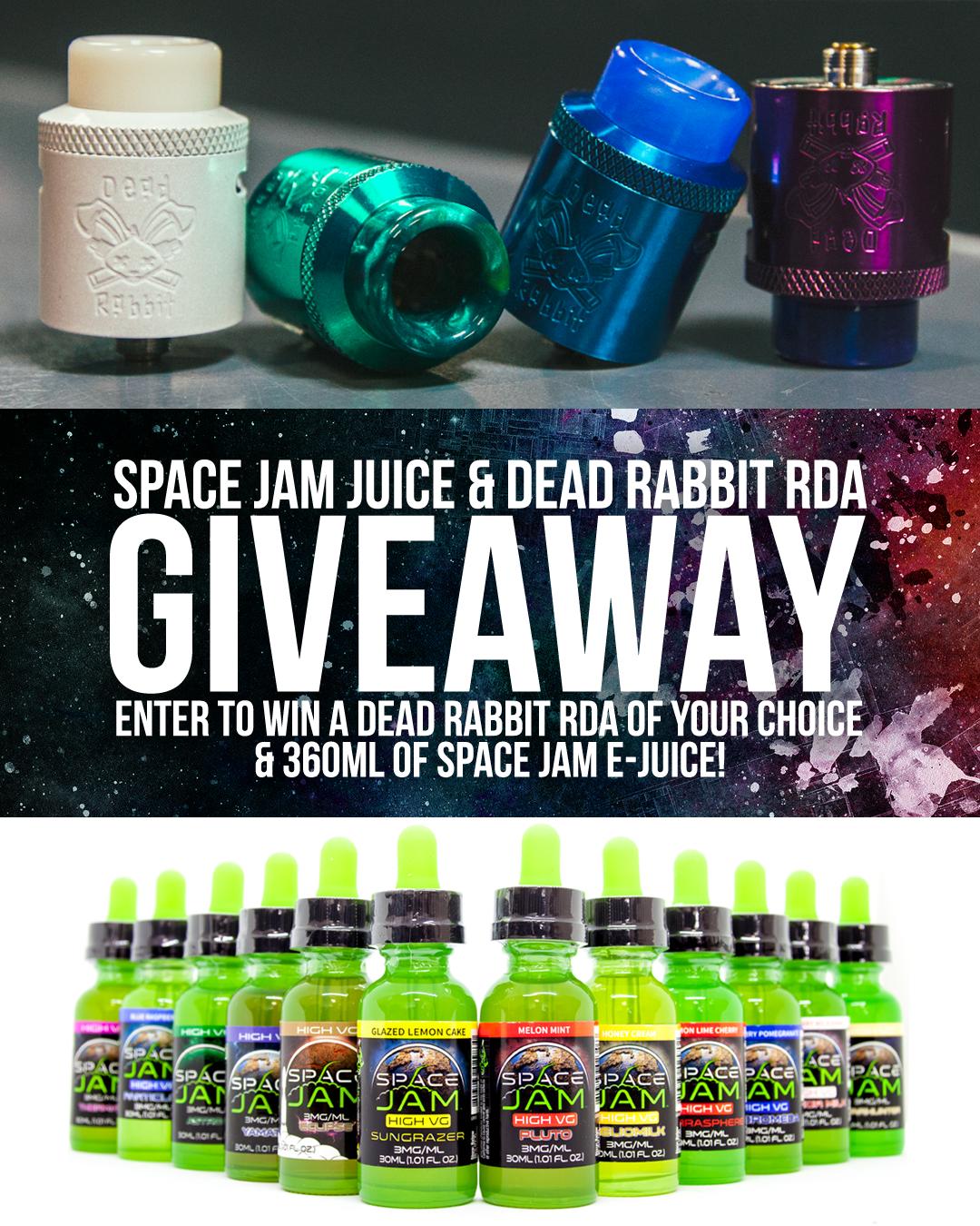 Space Jam Juice & Dead Rabbit RDA Giveaway! - EVcigarettes com