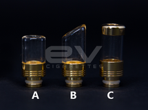 Glass Fusion Wide Bore Drip Tips for RBAs / 510 / 808D-1 / 901