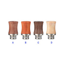 Wood & Stainless Steel Shorty Drip Tip Mouthpiece