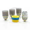 Each coil head utilizes pure organic cotton wicking for intense flavor.