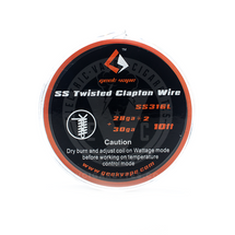 **Twisted Clapton Wire SS316L Tape Spool by GeekVape