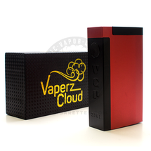 """18650 VCP """"Piglet"""" Series Mechanical Box MOD by Vaperz Cloud (Anodized Black and Red)"""