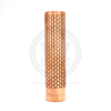 Vaperz Cloud's Nimbus competition mech mod is solid copper with a gorgeous honeycomb pattern etched into the body.