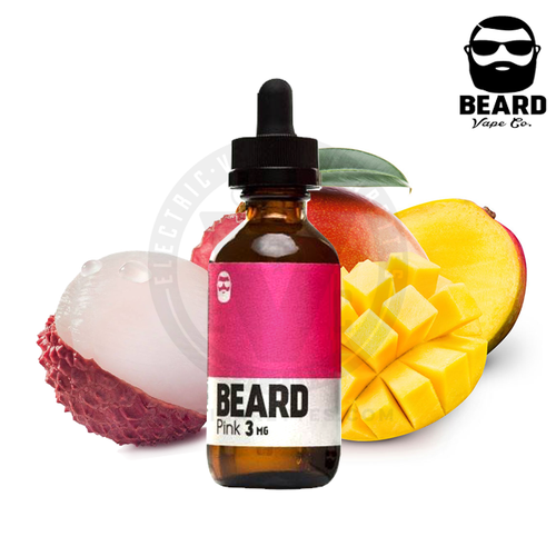 Tart lychees mingling with juicy mangoes give Pink by Beard Colors its deliciously bubbly flavor.