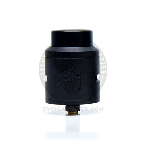 The Goon v1.5 RDA in Stainless Steel with a Matte Black finish