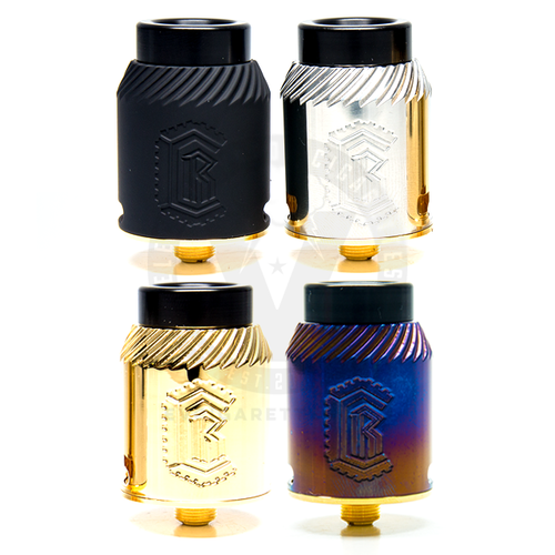 Available in Matte Black, Stainless Steel, Gold-Plated, and Heat-Treated Titanium, the Reload v1.5 RDA is a highly functional high performance vaping platform.