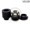 The VGOD Pro Drip RDA's build deck uses bottom-feed airflow to attenuate flavor and boost clouds.