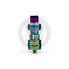 The multi-colored iridescent finish of the Crown III Mini has a purple drip tip preinstalled.