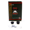 The Dead Rabbit RDA includes a bundle of goodies, including a delrin 810 drip and 510 drip tip adapter as well as a pack of spare parts.