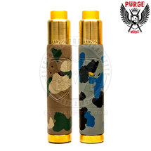 A pristine PRG-25 RDA perfectly matching the Camo Skull's high-powered performance is included with each Camo Edition Skull Mech Mod.