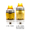 The Sherman RTA v2 features an expandable 2mL Ultem tank that can fit up to 4mL of delicious e-juice.