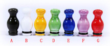Ceramic Calabash Drip Tip for 510 | 808 | 901 - Round Tip