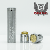 The Truck (Knurled) 20700 Mech MOD & Silencer Cap by Purge Mods (Chrome Plated Brass - BLEM)