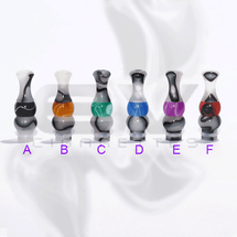 Versicolor Mixed Dual White Drip Tip for 510 | 808D-1 | 901