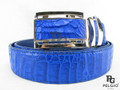 "Genuine Caiman Skin Belt 46"" Blue [CMB0025A1BU03]"
