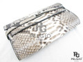 Genuine Python Belly Skin Clutch Wallet Purse Natural [PYRL012B1NT01G]