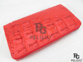 Genuine Crocodile Hornback Skin Zip Around Wallet Carmine Red [CRCL0008-001FM1TRD02M-VCWR1]