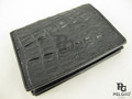 Genuine Caiman Skin Card Holders Wallet Black [CMCH003TBK01]