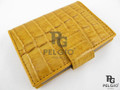 Genuine Caiman Skin Card Holders Yellow [CMCH001TYW01]