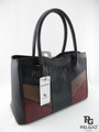 Genuine Polished Stingray Skin Leather Handbag Tote Multicolor [SRH025X001P]