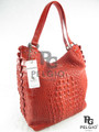 Genuine Crocodile Leather Luxury Tote Purse Red [CRHH011RD01M]