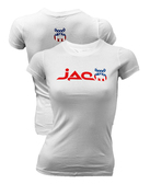 Jaco Womens White Patriot Crew Shirt
