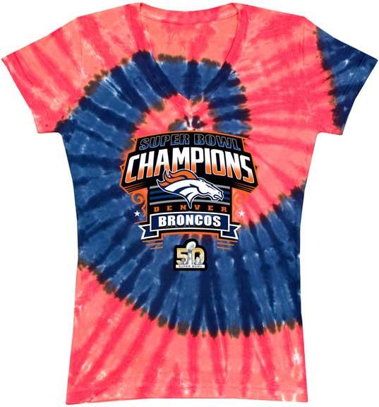 6931dc96 Denver Broncos Super Bowl 50 Champions WOMENS T-shirt